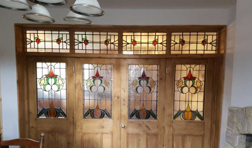 Internal doors and transom