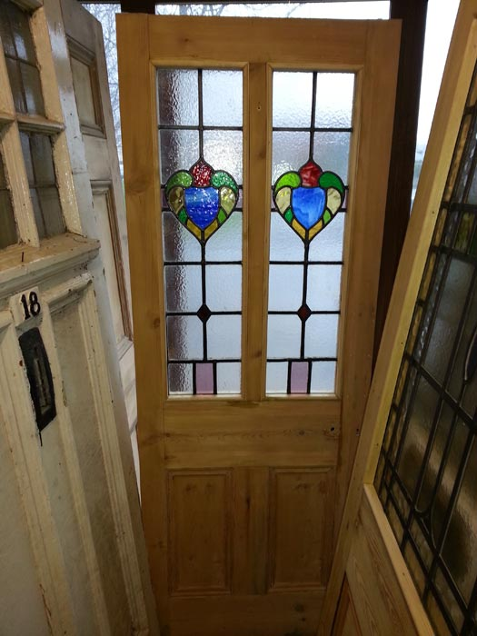 Latest Stained Glass Door And Transom Regency Antiques Item