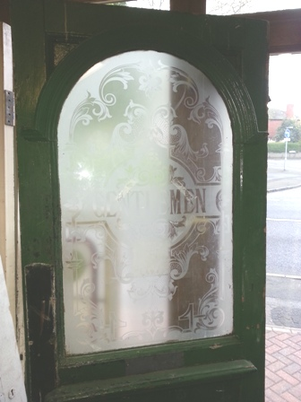 Beautiful Etched Glass Arch Door Currently Available In