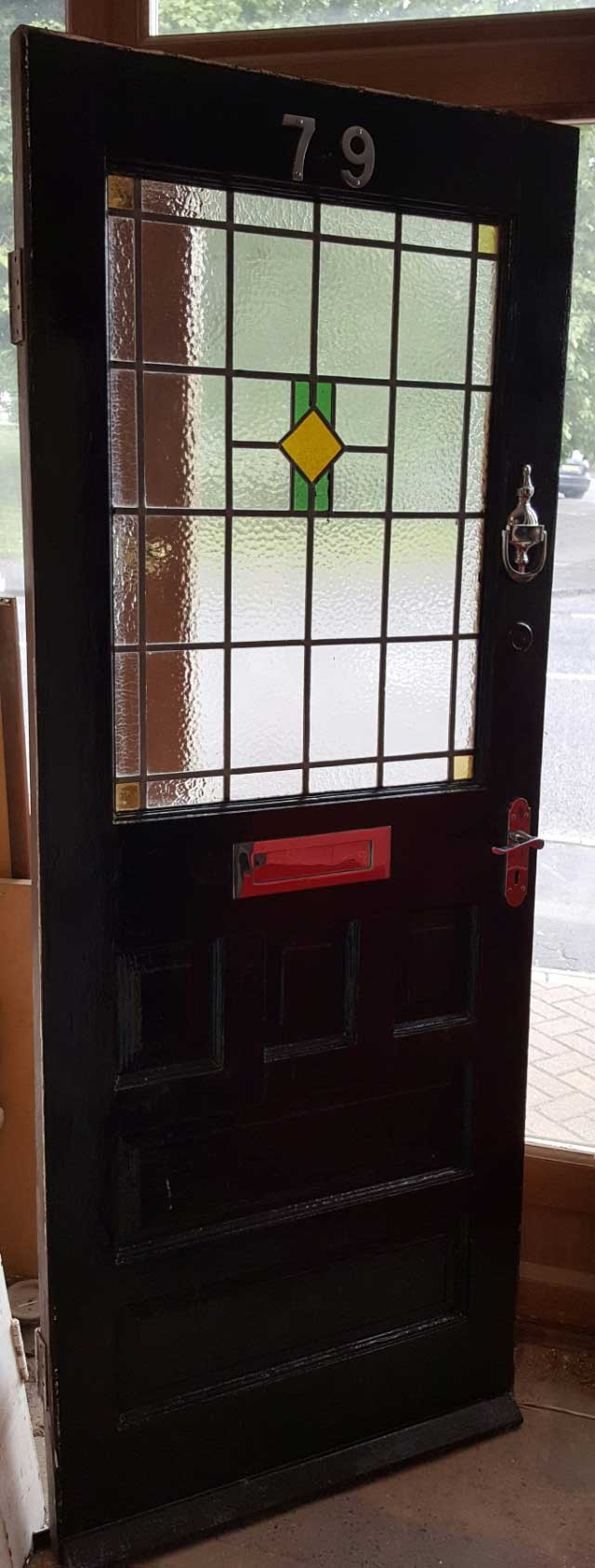 1930 39 s stained glass front door currently available in for 1930s front door furniture