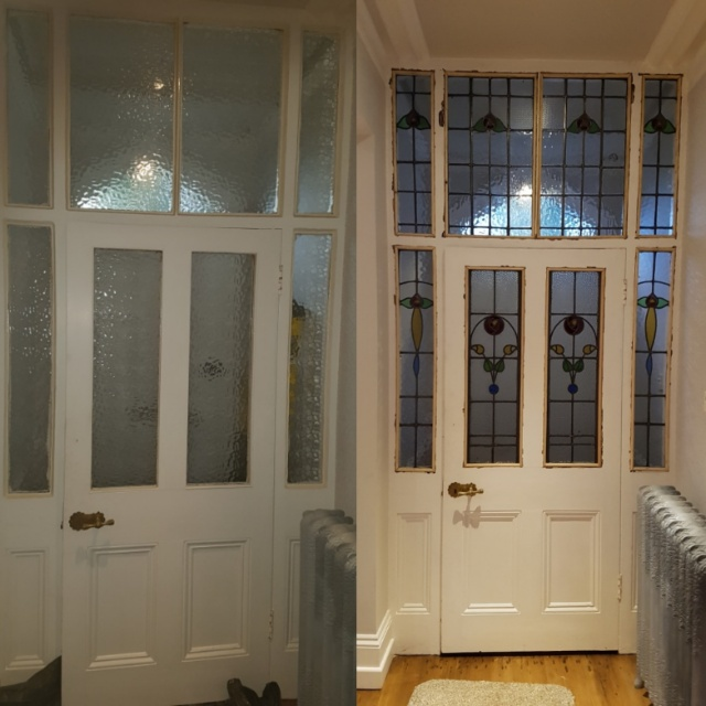 Before And After Vestibule Entrance Currently Available In The