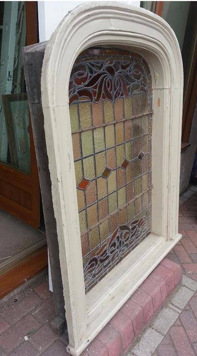 Art Nouveau Arch Top Window Currently Available In The