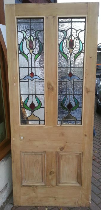 Stained glass doors currently available in the regency for Small doors for sale