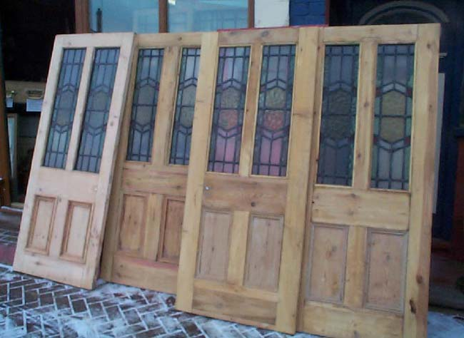 Stained Glass Door Set & Stained Glass Door Set currently available in the Regency Antiques ...