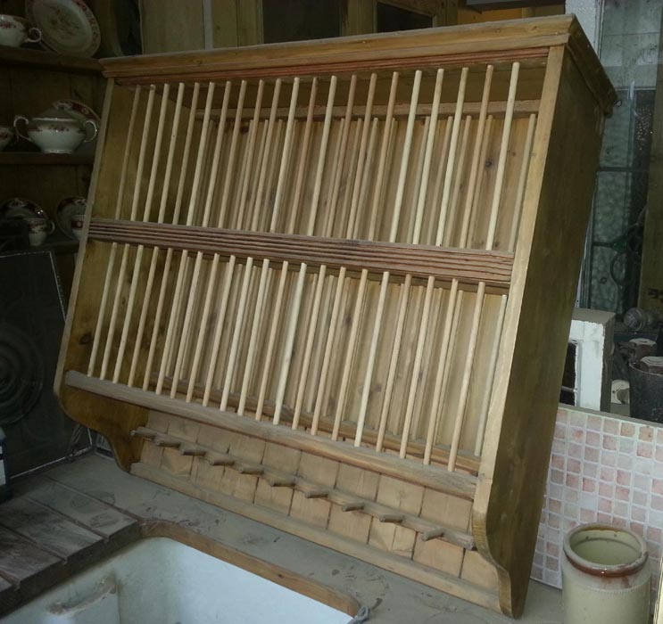 Lovely Rustic Spindle Plate Rack Currently Available In